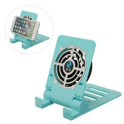 Univeral Mini Fan Cooling Foldable Desktop Phone Holder Bracket for Xiaomi Mobile Phone Tablet