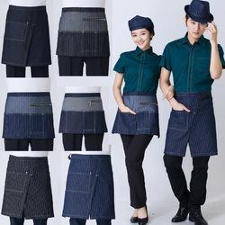 Cotton Chef Uniform Rushed The New Fashion Cowboy Apron Bust Restaurant Hotel Cafe Kitchen Aprons