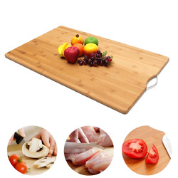 Extra LARGE Carbonised Kitchen Bamboo Cutting Chopping Board With Hook Kitchen Cutting Board