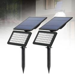 5W Solar Power 50 LED Spotlight Waterproof Landscape Wall Security Light for Outdoor Garden Lawn
