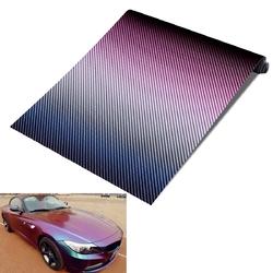 30cmx152cm Chameleon Carbon Fiber Vinyl Motorcycle Car Decoration Wrap Film
