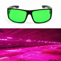 Eye-Protection Plant LED Goggles Anti-glare Anti-UV Green Lens Glasses for Greenhouse