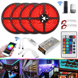 Category: Dropship Led Lights, SKU #1303561, Title: 20M 20A 240W SMD5050 IP20 Smart Home WiFi APP Control LED Strip Light Kit Work With Alexa AC110-240V
