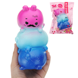 Eric Squishy Daddy Mommy Baby Rabbit Family 15*9*8CM Slow Rising With Packaging Collection Gift Soft Toy