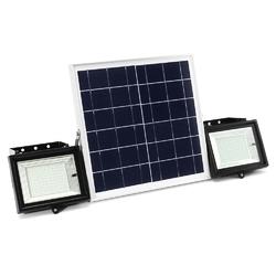 2Pcs Remote Control 100 LED Flood Light  Dimmable Timer Waterproof Solar Light Street Light