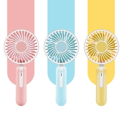 2 In 1 Mini Portable USB Hand Fan Cellphone Holder Adjustable Speed Cooling Rechargeable Battery Fan