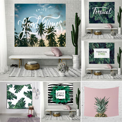 Green Pineapple Cloth Ins Style Nordic Wall Hanging Tapestry 3D Art Carpet Blanket Yoga Mat Decorative Tapestry for Home