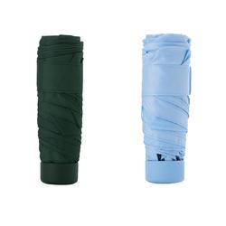 Portable Mini Foldable Travel Waterproof Windproof UV Resistent UPF50+ Umbrella for Sunny or Rainy D