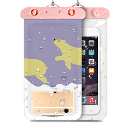 Universal Waterproof Case Support Touch Transparent Window Dry Bag For Cell Phone Under 6 Inch