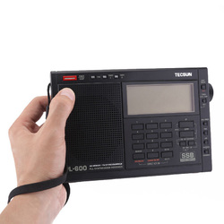Category: Dropship Media Players, SKU #1312087, Title: TECSUN PL-600 Digital Tuning Full-Band FM MW SW-SBB PLL Shortwave Stereo Radio Receiver with Clock