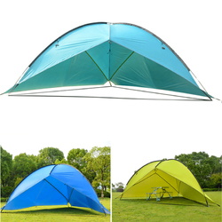 4.8 x 4.8 x 2m Camping Tent Sunshade Both Sides UV Portable Beach Tent Fishing Shade Wigwam