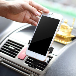 Universal Gravity Linkage Auto Lock Car Mount Air Vent Holder for iPhone8 X Mobile Phone