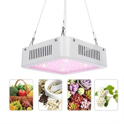 100W Square 96 LED Grow Light Red: Green 8:1 Full Spectrum Kit Indoor Plant Lamp AC100-240V