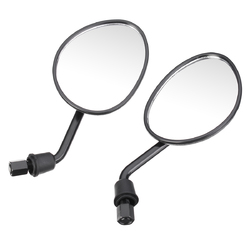 8/10mm Motorcycle Black Rear View Side Mirrors For Yamaha