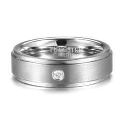 6mm Tungsten Carbide Ring Tungsten Steel Diamond Colorfast