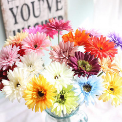 Artificial African Chrysanthemum Flower For Wedding Decorations Silk Daisy Fake Flower Party Home Festival Decor High Quality African Chrysanthemum Flower Wedding Artificial Silk Flower Decorations
