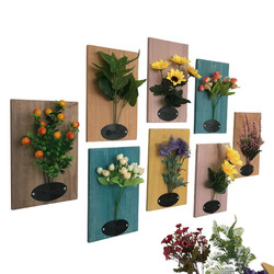 High quality Fashion Creative Simulation Artificial with Hanging Handcrafted Wood Board Wall Decor Paintings for Office Home Decorations