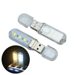 U16 3 x LEDs 120Lumens USB Rechargeable Portable USB EDC LED Flashlight Work Light