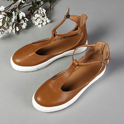 US Size 5-12 Buckle Hollow Out Skateboard Flats Shoes
