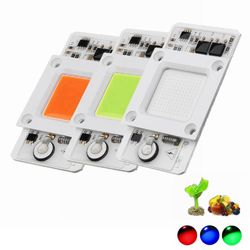 LUSTREON 50W Blue/Red/Green Light Non-drive Thunder Protection COB LED Chip for DIY Grow Light