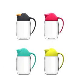 Creative Penguin Leak Proof Oil Bottle Vinegar Dispenser Sprayer Glass Automatic Flip Cruet with Pouring Spout Plastic Canisters Spices Vinegar Sauce Pot Kitchen Utensils Containers Storage lid Oiler