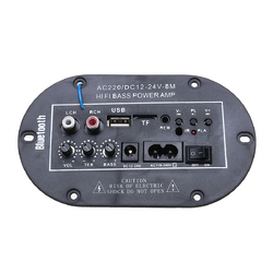 220V 8 Inch High Power Enthusiast Audio Card Digital With bluetooth Car Amplifier