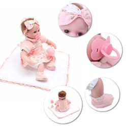 45CM Doll Reborn Babies Silicone Reborn Dolls Toys Realistic Lifelike Reborn Toys Babies Toys
