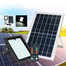 10W 150 LED Solar Powered Light Sensor Floodlight Outdoor Security Wall Lamp with Remote Control