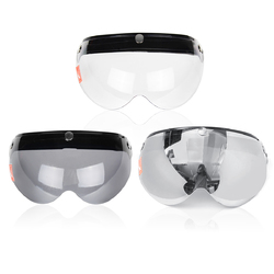 3 Snap Button Pilot-Style Universal Motorcycle Helmet Lens Shield Wind Visor