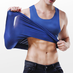 Mens Seamless Solid Color Thin Ice Silk Soft Sports Vest