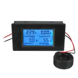 AC 80-260V 100A Digital Current Voltage Amperage LCD Power Meter DC Volt Amp Testing Gauge Monitor Power Energy Tester Ammeter Voltmeter