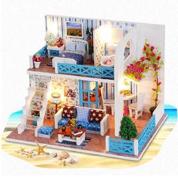 Handcraft DIY Doll House Sea Wooden Miniature Furniture Dollhouse Gift