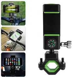 Universal Anti-slip LED Light Compass Bicycle Bike Handlebar Holder for iPhone Xiaomi Mobile Phone