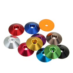 Suleve™ M3AN10 10Pcs M3 Cap Head Screw Cup Washer Extra Large Gasket Aluminum Alloy Multicolor