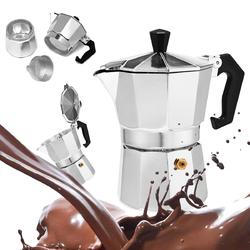 50 / 100 / 150 / 450ml Silver Aluminum Octagonal Mocha Coffee Pot Cup Percolator Maker Tea Pot