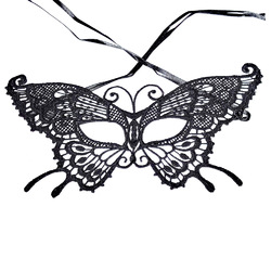 Exquisite High-End Lace Mysterious Mask Halloween Party Sexy Mask Lace Mask Masquerade Mask Dress Venetian Carnival Butterfly Shape Party Mask