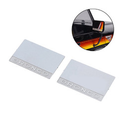 2PC Side Rearview Mirror Sheet for 1/10 Traxxas TRX-4 Ford BRONCO Door Mirror Rc Car Parts