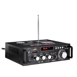 HIFI 220V 12V CH2.0 Home Car Amplifier bluetooth Signal to Noise Ratio 90BP With Remote Control
