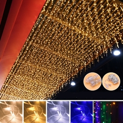 10M 100LED White Warm White Colorful Yellow Blue Window Curtain String Holiday Light Christmas Decor