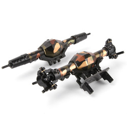 2PC Military Camouflage 6061T6 Aluminum Diamond Bridge Axle 58° Angle Steering for AXIAL 90046 90047