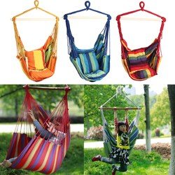 Category: Dropship Outdoor Recreation, SKU #1340527, Title: Outdoor Canvas Hammock Chair Swing Hanging Chair Relax Soft Indoor Garden Camping Swing