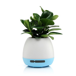 Wireless bluetooth Speaker Music Flowerpot Potted Touch Control Colorful Light Speaker