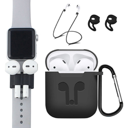 Bakeey 5 Accessories Silicone Case Anti Lost Strap Eartips Carabiner Buckle for Apple AirPods(2016) Earphone