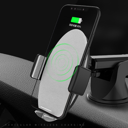Bakeey™ 10W Qi Wireless Fast Charge Smart Auto Lock Car Dashboard Phone Holder Stand for iPhone X 8