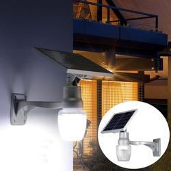 6W Solar Power LED Light Sensor LED Security Spotlight Wall Outdoor Garden Light Waterproof