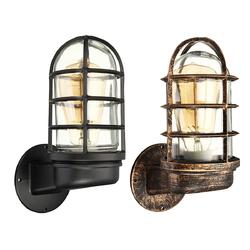 Retro Industrial Unique Wall Light Iron Rustic Lamp Sconce Hallway Patio Lantern Lamp Cover
