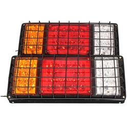 Pair 32 LED Rear Stop Lights Tail Indicator Lamps for 12V 24V Trailer Truck
