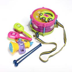 5pcs Baby Roll Drum Musical Instruments Kids Drum Set Children Toys
