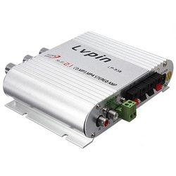 Lvpin LP-838 20W 12V Super Bass Mini Hi-Fi Stereo Amplifier Booster Radio MP3