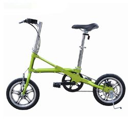 Category: Dropship Cycling, SKU #925611, Title: Folding Bike Mini Bicycle 14 Inch Wheel Ultralight Speed Bicycle